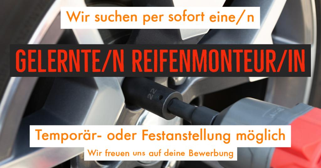 Stelleninserat ReifenmonteurIn